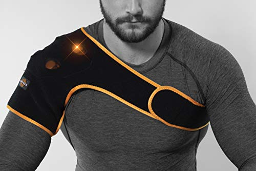 Myovolt Wearable Sports Recovery Technology for Shoulders – Vibration Massage Therapy for Sore & Stiff Muscles, Warm-up…