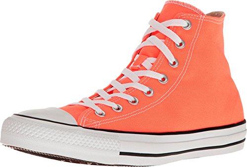 Converse Unisex Sneakers Chuck Taylor All Star Hi Top Hyper Orange Canvas 155739F (Orange For Women Converse)
