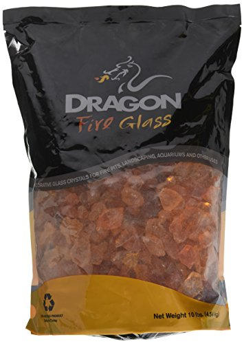 Dragon Glass 10lb. Orange Landscape Glass 1/2'' by Dragon Glass