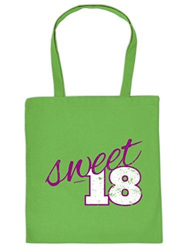 - - - sweet 18 - - -Tote Bag Henkeltasche Beutel mit Aufdruck. Tragetasche, Must-have, Stofftasche. Geschenk
