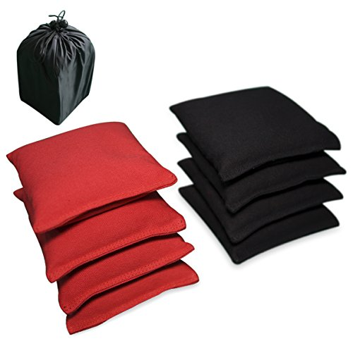 [AceLife Weather Resistant Cornhole Bags Set of 8 with Recycled Plastic Pellets (California Proposition 65 Approved), Red &] (Halloween Bean Bag Toss)