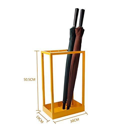 HBJP Puesto de Paraguas Creativo Conjunto de Paraguas de Hierro Forjado Cubo de Oficina en casa Soporte de Paraguas Almacenamiento de Moda Paraguas