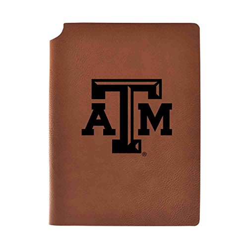 1/2 College Rule 80 Sheets - Texas A&M University Velour Journal with Pen Holder|Carbon Etched|Officially Licensed Collegiate Journal|