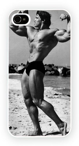 Arnold Schwarzenegger Body Builder Art Design, iPhone 6, Etui de téléphone mobile - encre brillant impression