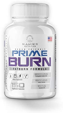 Prime Burn Fat Burner – Fat Loss Supplement, Increase Weight Loss, Energy and Focus, Premium Fat Burning CLA, Acetyl L-Carnitine, Yohimbe HCL, More – 150 Capsules