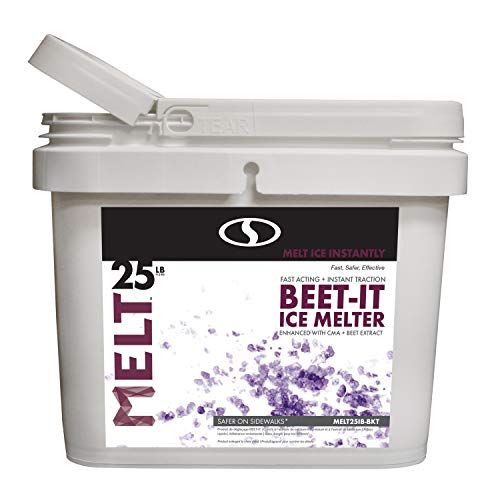 Snow Joe AZ-25-IB-BKT Melt-2-Go Natural Beet Juice Extract + CMA Enriched Ice Melter, 25 lb