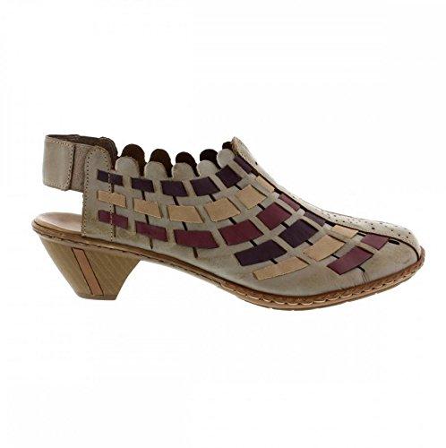Rieker Para Mujer Marrón De Sina Tacón Zapatos RxBqnwp7rR