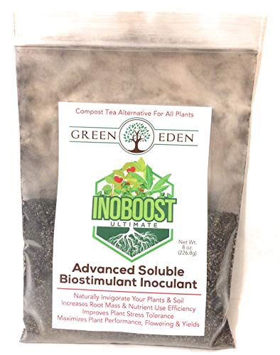GreenEden InoBoost Ultimate Compost Tea Blend for Plants - 8oz. Advanced Soluble Concentrate for Root & Plant Growth - Health - Yields - Biodynamic Professional Grade Performance