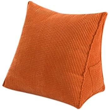 Amazon Com Halovie Triangle Pillow Back Wedge Cushion 47 45 23cm Sofa Bed Office Chair Rest
