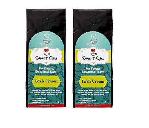 Smart Sips, Irish Cream Ground Gourmet Flavored Coffee, 20 Ounce