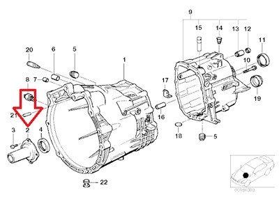 BMW Genuine Guide Sleeve - Clutch Release Bearing for 525i 530i 328i M3 M3 3.2 525i 528i 530i 325xi 328Ci 328i 330Ci 330i 330xi X5 3.0i Z3 2.8 Z3 3.0i Z3 M3.2