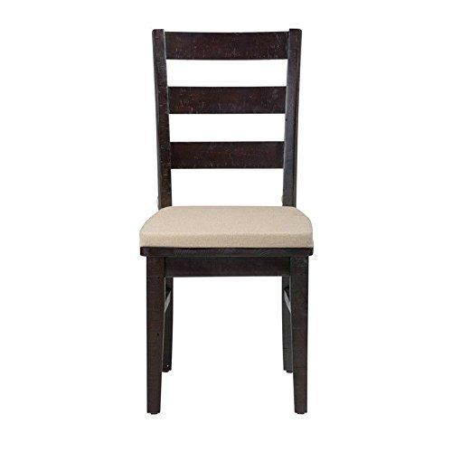 Jofran Prospect Creek Ladderback Dining Chair in Dark Wood (Set of (Creek Dining Set)