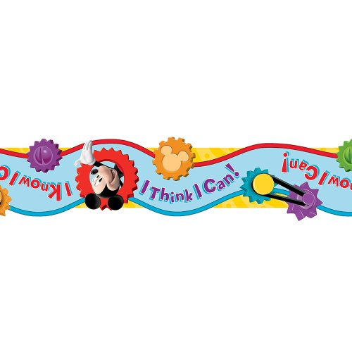 Eureka Disney Mickey Mouse Clubhouse 'I Think I Can' Board Trim and Classroom Decoration for Teachers, 12pc, 3.25'' W x 37'' L