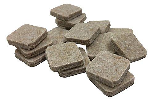 Shepherd Hardware 9815 1-Inch Heavy Duty Self-Adhesive Felt Furniture Pads, 16-Count, Beige
