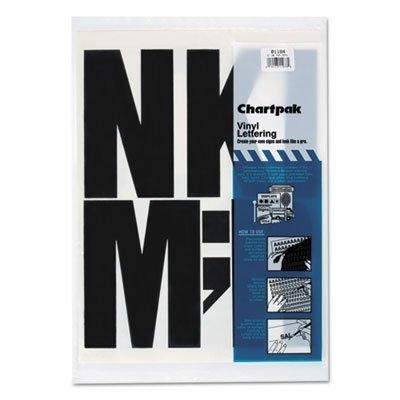 Vinyl Uppercase Letters - Press-On Vinyl Uppercase Letters, Self Adhesive, Black, 6