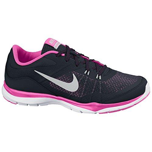 Nike Wmns Flex Trainer 5, Zapatillas Para Mujer Negro (Blk / Mtllc Slvr Pnk Pw Sprt Fch)