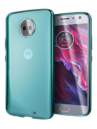 Moto X4 Case, Cimo [Grip] Premium Slim Protective Cover for Motorola Moto X4 - Blue