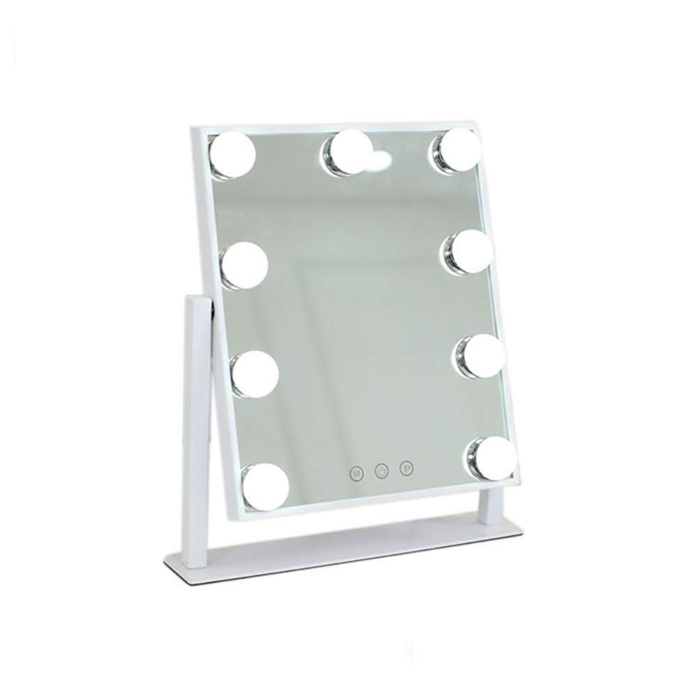 LED Makeup Mirror Large Vanity Mirror with 9 LED Light Bulbs