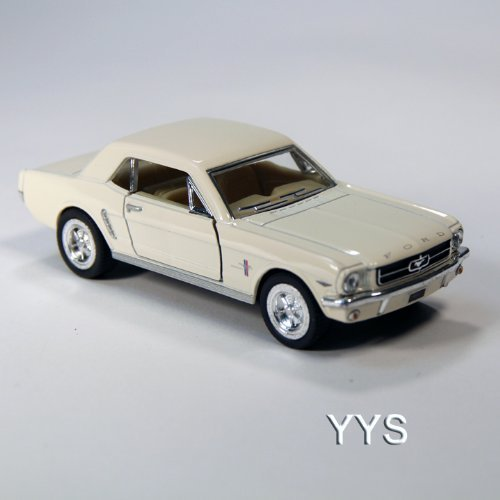ToySmith 1964 Late Model Ford Mustang Die-Cast Car 1:36 Scale-White (Model Diecast Late)