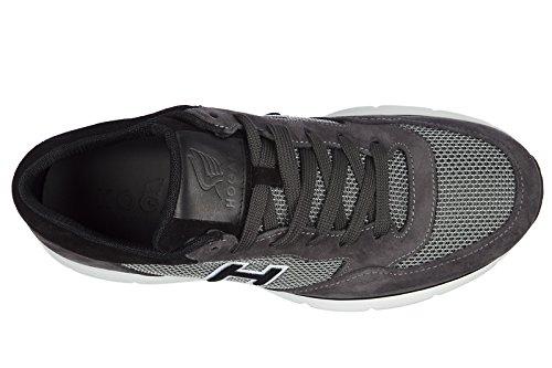Hogan scarpe sneakers uomo camoscio nuove h254 t2015 h flock grigio