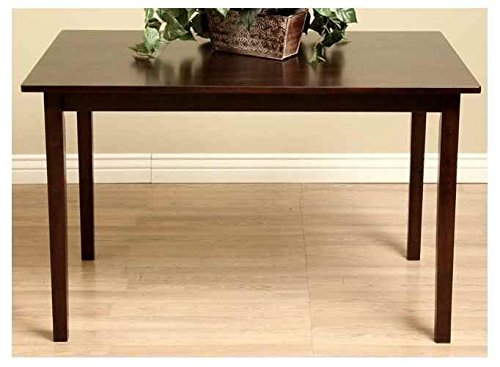 Warehouse of Tiffany Dining Room Table in Dark Brown Oak Finish