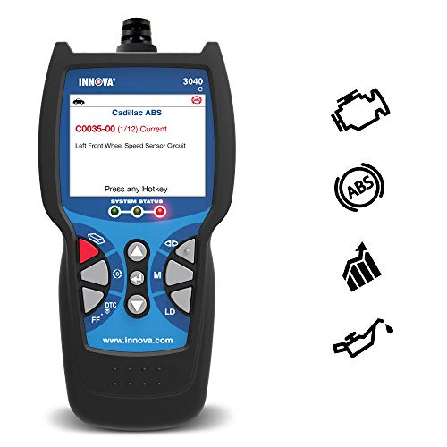 (Innova Color Screen Light 3040e Diagnostic Code Reader/Scan Tool with ABS, Live Data and Oil Reset for OBD2 Vehicles)