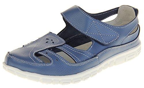 Chaussures Cuir Femmes Bleu En Pour Fruits Merceditas D't Par Sandales Coolers znwCqY4