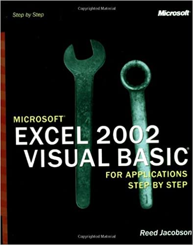 Microsoft Excel 2002 Visual Basic for Applications Step by