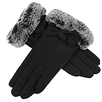 Bonvince Touch Screen Gloves for Women Winter Warm Texting