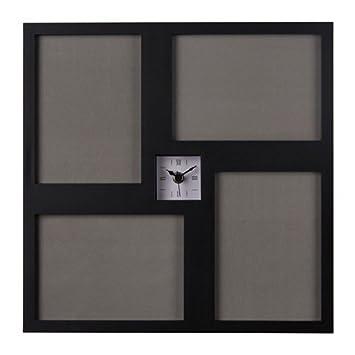 Amazon De Ikea Kravatt Wanduhr In Schwarz 36x36cm