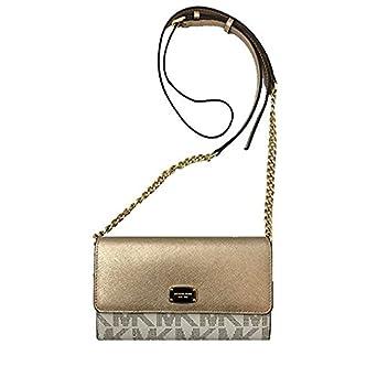 d2bd700008e95c MICHAEL Michael Kors Jet Set Item PVC Large Phone Wallet Crossbody in  Vanilla/Pale Gold 35H6MTTC7B VANL/PLGOLD: Amazon.co.uk: Clothing