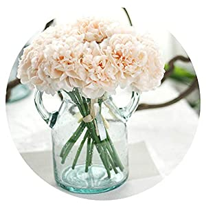 1 Bouquet 5 Head Wedding Artificial Peony Hydrangea Flower Home Wedding Party Floral Decor 58