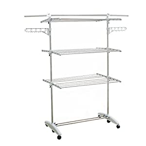Liwooliving Premium Stainless Clothes Drying Rack(With Blank Pole)_ Made In Korea