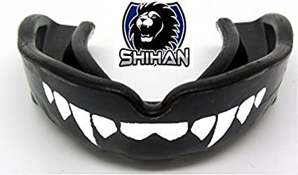 JUNIOR Black /'FANGS/' Gum Shield Mouth Protection  Boxing Rugby Wrestling Judo