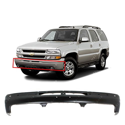 MBI AUTO - Primered, Steel Front Bumper Face Bar Fascia for 2000 2001 2002 2003 2004 2005 2006 Chevy Silverado, Suburban, Tahoe 00-06, GM1002375 ()