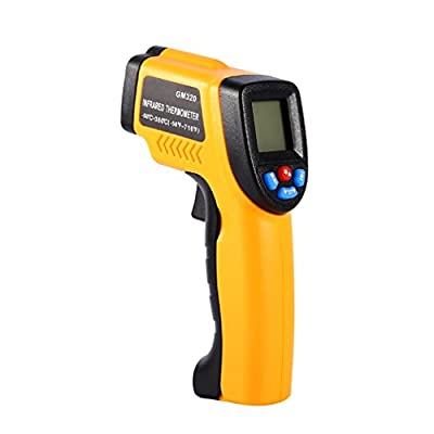 Infrared Thermometer,YKS Non-Contact Digital Laser IR Thermometer Temperature Gun, -50 to 380?(-58 to 716?) w/ Laser Point, LCD Backlight,High Accuracy for Kitchen Automotive Surface Measurement