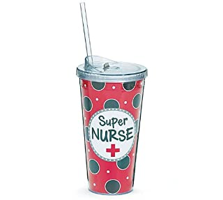 Super Nurse 20 OZ Acrylic Insulated Travel Tumbler