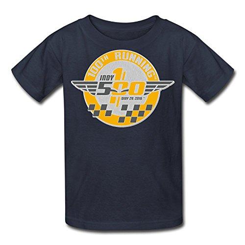 Duola Boys&Girls Short Sleeve T-shirt Indy500 Car Racing Size M Navy