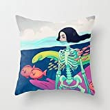 crow robot - The Skull Pillowcover Of ,16 X 16 Inches / 40 By 40 Cm Decoration,gift For Home,saloon,kids Girls,couch,adults,relatives (twin Sides)