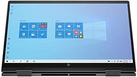 "2020 HP Envy x360 2-in-1 15.6"" FHD Touchscreen Laptop Computer, AMD Ryzen 7-4700U, 32GB RAM, 1TB PCIe SSD, Backlit Keyboard, AMD Radeon Graphics, HD Webcam, Windows 10, Black, 32GB Snow Bell USB Card"