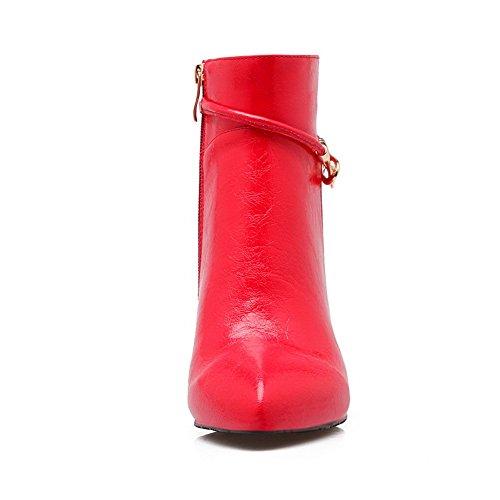 Materials Stiletto Ornament Metal Mule Girls Blend Red Boots BalaMasa YtqnBPx