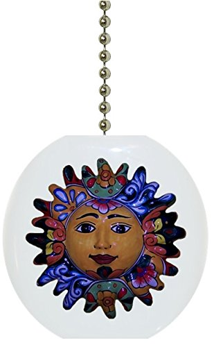 Talavera Sun Solid Ceramic Fan Pull (Lamps Talavera)