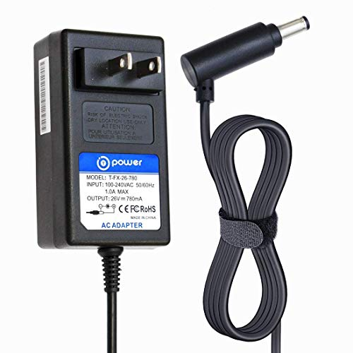 T POWER 26V Ac Dc Adapter Charger Compatible with Dyson V6 V7 V8 DC58, DC59, DC60, DC61, DC62, DC72 SV03 SV05 ERP SV06 Cord Free Handheld Stick Vacuum Power Supply