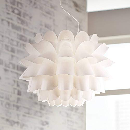 - Possini Euro Design White Flower Pendant Chandelier - Possini Euro Design