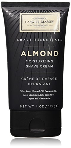 Caswell-Massey Almond Soothing Shave Cream - All Natural Shaving Cream Made In USA - 4 Ounces