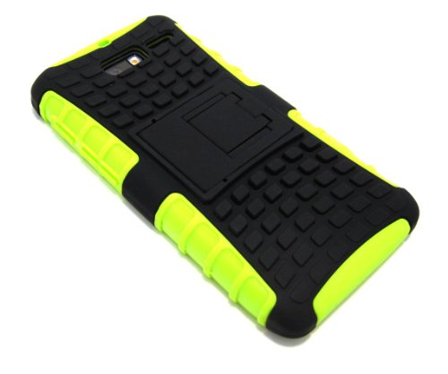 Cell-Nerds NerdShield Armor Case Cover with Built-in Kickstand for The Motorola Droid Razr M (Verizon) & Electrify M (US Cellular) Cell-Nerds Packaging (Lime Green)