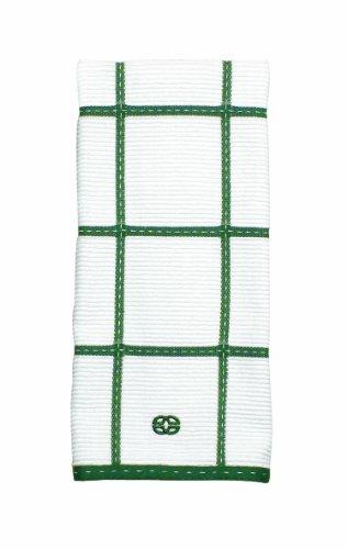 Calphalon Textiles Large Check Terry Kitchen Towel, Emerald