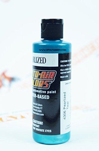 Createx Auto-Air Colors 4oz Pearlized Teal 4306 Custom Airbrush Paint. by SprayGunner