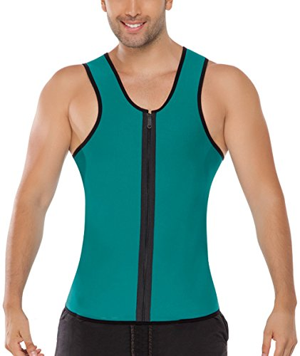 golovey mens neoprene vest slimming shirt for weight loss