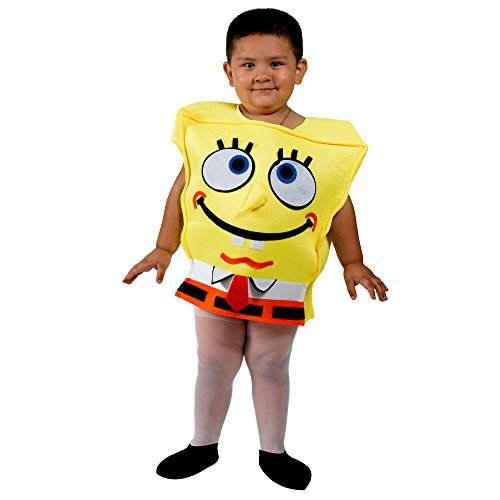 Spongebob-Kids-Child-Yellow-Halloween-Costume-Size-2-4-Years-Old